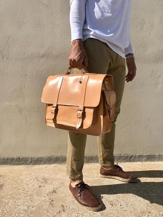 bfddc1dda8 LEATHER BAGS    Natural Leather Messenger Bag 17   - Christina ...