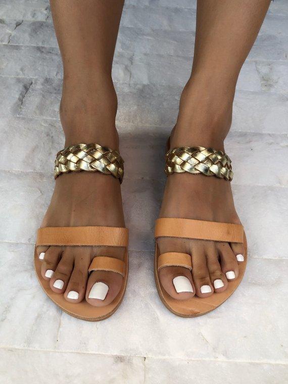 1ce2fca00b1 LEATHER SANDALS    Greek Leather Sandals - Christina Christi ...