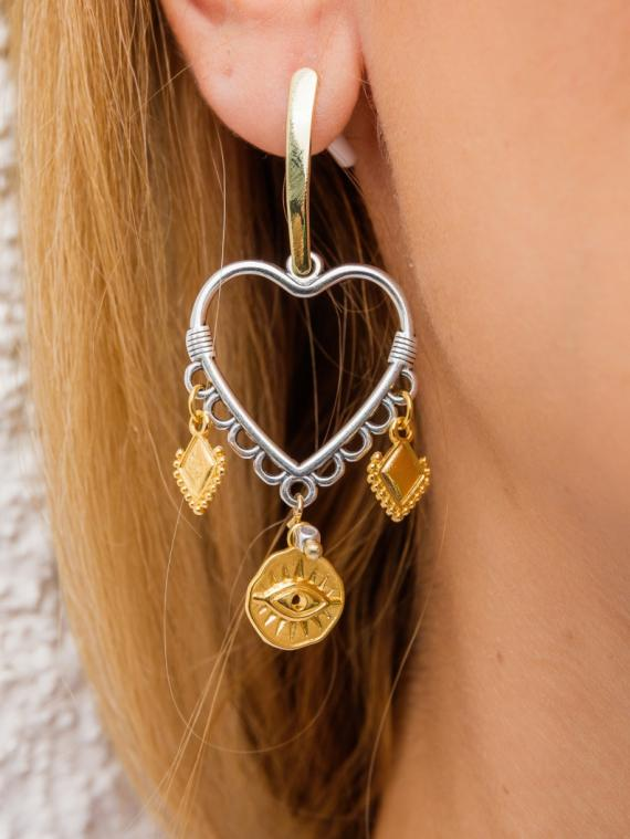 Statement Earrings Gold & Silver
