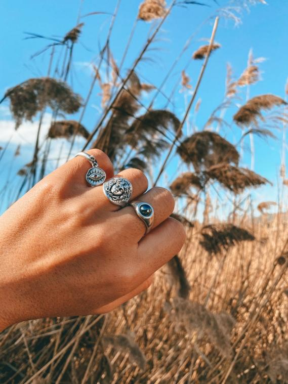 Stackable Band Rings Silver