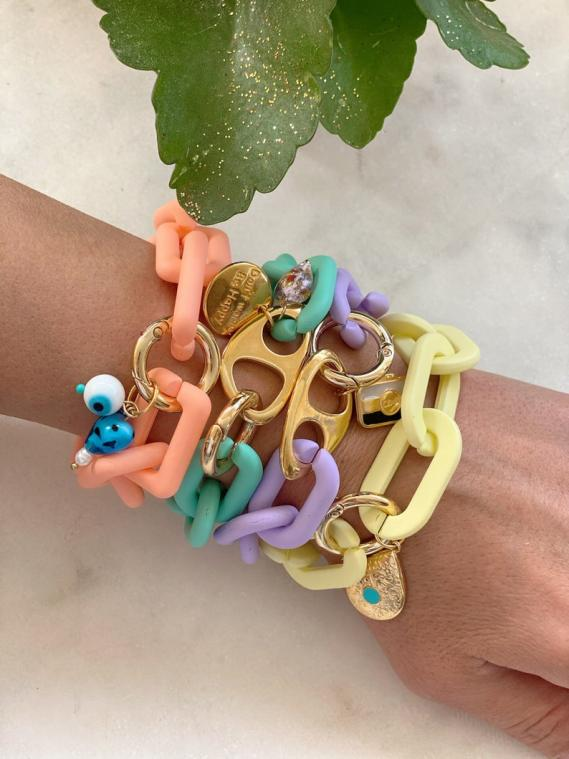 Colorful Acrylic Summer Bracelets