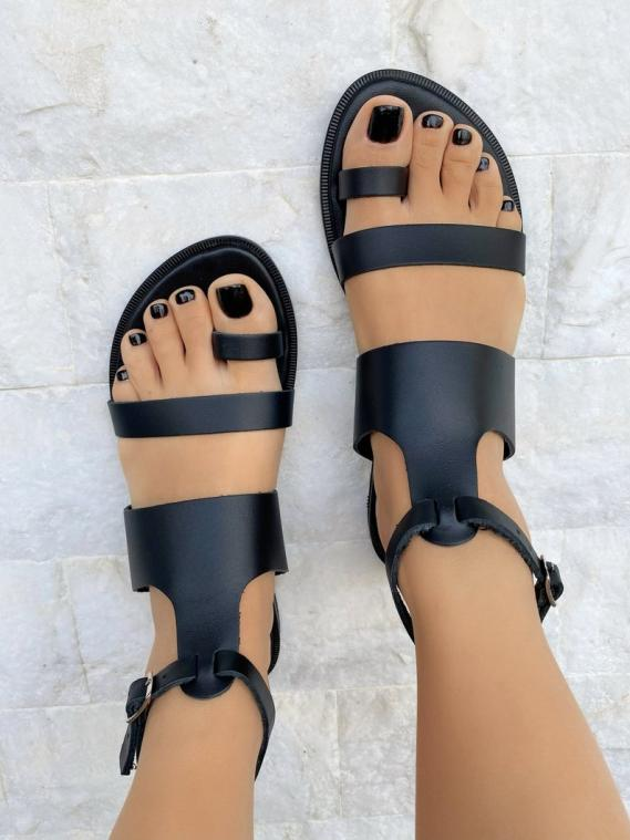Black Slingback Sandals Women